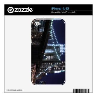 Puente de Brooklyn y horizonte de Manhattan en la  iPhone 4S Skins