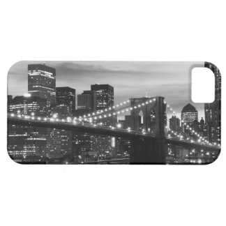 Puente de Brooklyn y horizonte de Manhattan en la iPhone 5 Funda