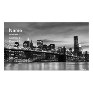 Puente de Brooklyn y horizonte de Manhattan en la  Plantillas De Tarjeta De Negocio