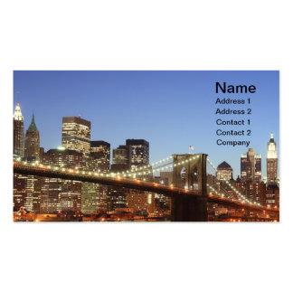 Puente de Brooklyn y horizonte de Manhattan en la  Tarjeta De Negocio