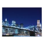 Puente de Brooklyn y horizonte de Manhattan Invitación 13,9 X 19,0 Cm