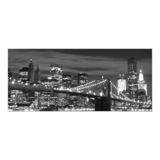 Puente de Brooklyn y horizonte de Manhattan Invitación 10,1 X 23,5 Cm