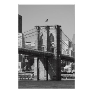 Puente de Brooklyn y horizonte de Manhattan Impresiones