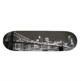 """Puente de Brooklyn y horizonte de Manhattan Patineta 7 1/8"""""""