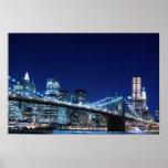 Puente de Brooklyn y horizonte de Manhattan Poster