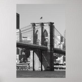 Puente de Brooklyn y horizonte de Manhattan Póster