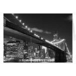 Puente de Brooklyn y horizonte de Manhattan Tarjetón