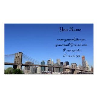 Puente de Brooklyn y horizonte de Manhattan Tarjetas De Visita