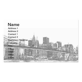 Puente de Brooklyn y horizonte de Manhattan Tarjeta De Negocio