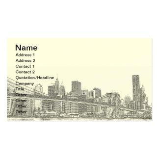 Puente de Brooklyn y horizonte de Manhattan Tarjetas Personales
