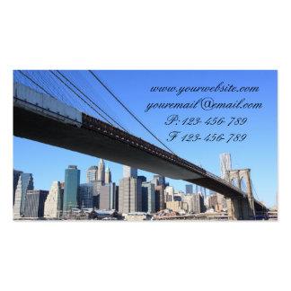 Puente de Brooklyn y horizonte de Manhattan Plantilla De Tarjeta Personal