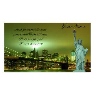 Puente de Brooklyn y la estatua de la libertad en  Tarjeta De Negocio