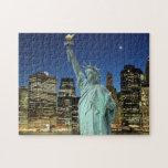 Puente de Brooklyn y la estatua de la libertad Rompecabezas Con Fotos