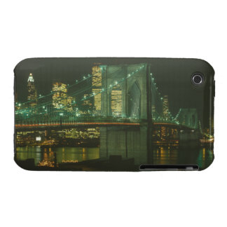 Puente de Brooklyn y World Trade Center Blackberry iPhone 3 Case-Mate Protector