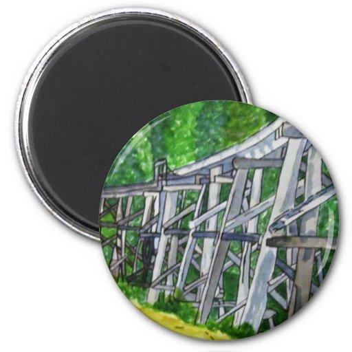 Puente de caballete imanes de nevera