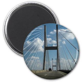 Puente de cable de la isla de Jekyll Imán Redondo 5 Cm