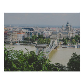 """Puente de cadena, Budapest Folleto 8.5"""" X 11"""""""