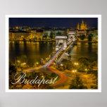 Puente de cadena Budapest, Hungría de Szechenyi Posters