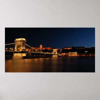 Puente de cadena Budapest Poster
