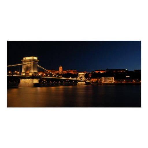 Puente de cadena Budapest Póster