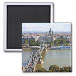 Puente de cadena de Szechenyi, Budapest, Hungría Imanes