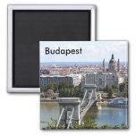 Puente de cadena de Szechenyi, Budapest, Hungría,  Iman De Nevera