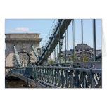 Puente de cadena de Szechenyi, Budapest, Hungría Tarjetón