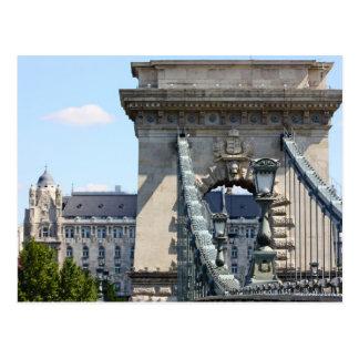 Puente de cadena de Szechenyi, Budapest, Hungría Tarjeta Postal