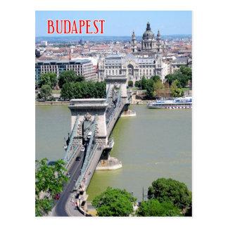 Puente de cadena sobre el río Danubio, Budapest, Postales
