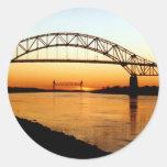 Puente de Cape Cod Bourne Pegatina Redonda