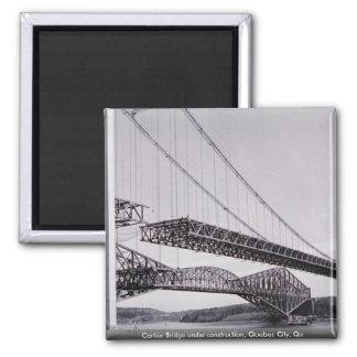 Puente de Cartier bajo construcción la ciudad de Imán Para Frigorifico