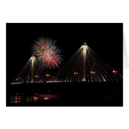 Puente de Clark - Alton, Illinois Tarjeta De Felicitación