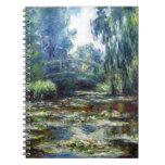 Puente de Claude Monet sobre la charca del lirio d Cuaderno