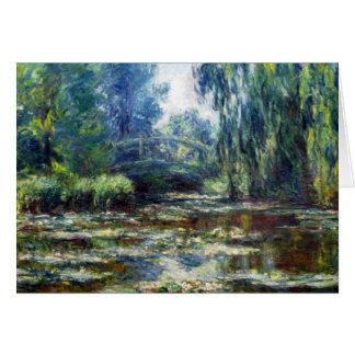 Puente de Claude Monet sobre la charca del lirio d Tarjeta De Felicitación