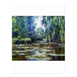 Puente de Claude Monet sobre la charca del lirio Postal