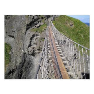 Puente de cuerda histórico de Carrick-a-rede sept Impresiones Fotográficas