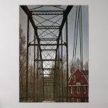 Puente de Eagle de la guerra y impresión del molin Poster