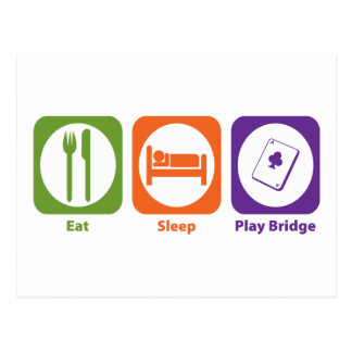 Puente de Eat Sleep Play Tarjetas Postales