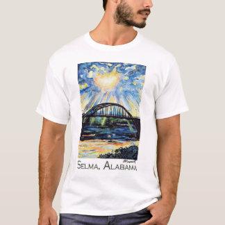 Puente de Edmund Pettus, Selma Alabama, resplandor Playera