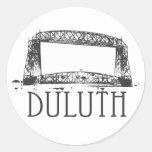 Puente de elevación aéreo de Duluth Pegatina Redonda