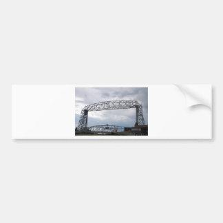 Puente de elevación aéreo del parque del canal pegatina de parachoque
