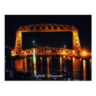 Puente de elevación aéreo Duluth Minnesota Postales