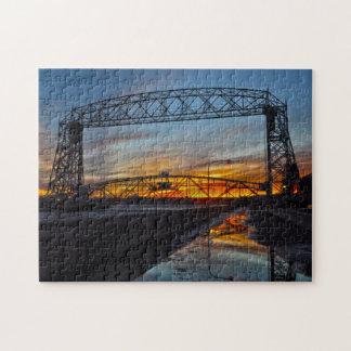 Puente de elevación aéreo Duluth Minnesota Puzzle