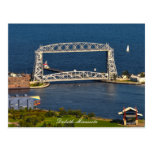Puente de elevación aéreo Duluth Minnesota Tarjeta Postal