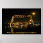 Puente de elevación histórico de Duluth Minnesota Póster