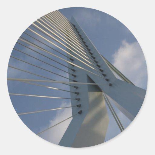 Puente de Erasmus, Rotterdam Etiquetas Redondas