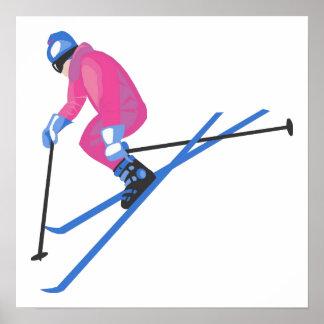 Puente de esquí póster