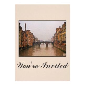 Puente de Florencia con cita del amor Comunicado