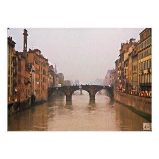 Puente de Florencia con cita del amor Invitaciones Personalizada