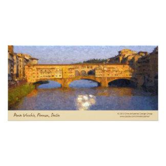 Puente de Florencia del italiano de Ponte Vecchio Tarjetas Fotográficas Personalizadas